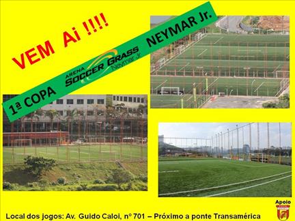 Abertas inscrições para '1a Copa Arena Soccer Grass Neymar Jr.