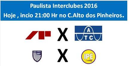 Hoje o Campeonato Paulista Interclubes esquenta o Clube Alto dos Pinheiros