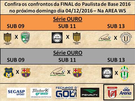 Paulista de Base, FINAIS dia 04/12 na ARENA WS