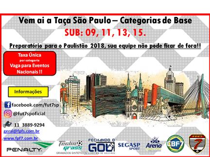 Confira o Convite e os detalhes da Taça São Paulo de Base 2018!