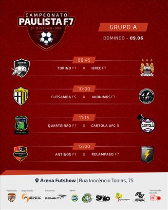 Domingo dia 09/06 tem rodada do Paulista 2ª Divisão 2019